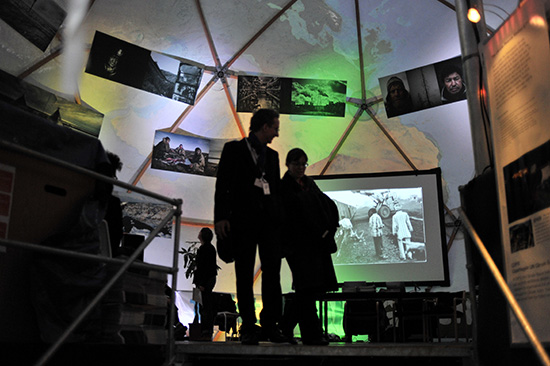 Images from NOOR exhibits and activities throughout  the Global Climate Summit in Copenhagen in December 2009.